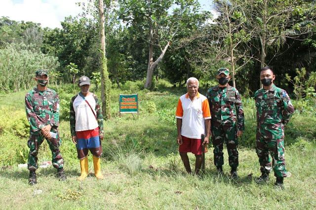 Korem 172/PWY Bersama Tim Wasev Kodam Cenderawasih Tinjau Lokasi Pembangunan Kodim Keerom