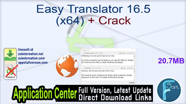 Easy Translator 16.5 (x64) + Crack