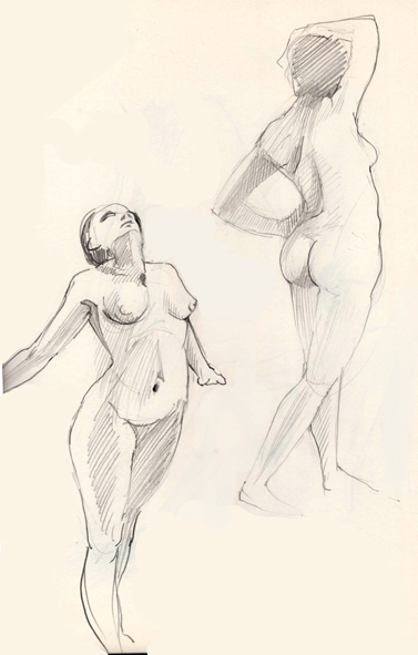 Art By Products Art Model Two Poses 1975