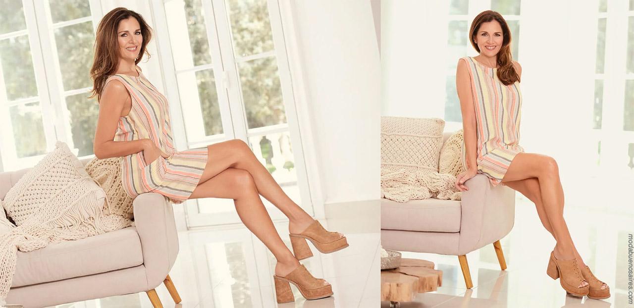 Suecos 2020. Moda primavera verano 2020 calzado femenino.