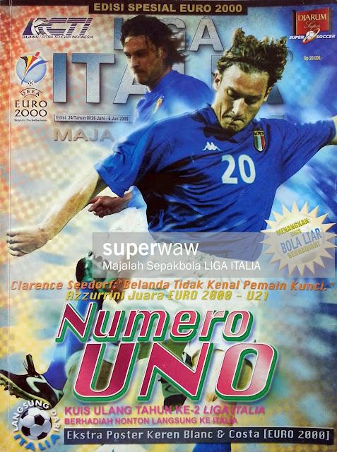 STEFANO FIORE AND FRANCESCO TOTTI ITALY EURO 2000