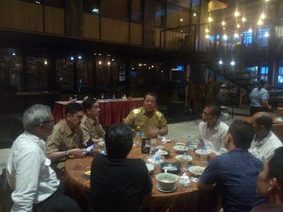 Sementara kepala Bappeda Provinsi Lampung Fredy, memaparkan hasil pertemuan dengan menteri Pertanian saat mendampingi Gubernur Arinal,
