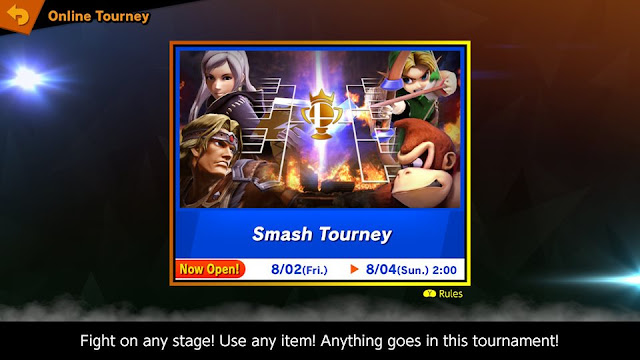 Super Smash Bros. Ultimate Online Tourney mode free-for-alls items