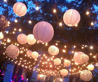 outside decor paper lanterns