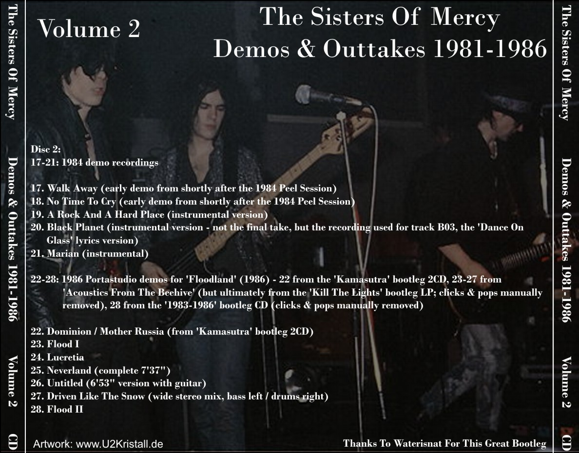 T U B E The Sisters Of Mercy Demos Amp Outtakes 1981 1986