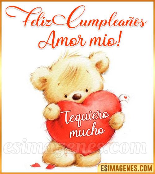 feliz cumpleaños mi amor te quiero mucho