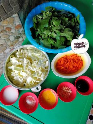 Resipi Sayur Campur Tumis Kubis & Bayam