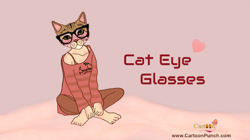 Cat Eye Glasses cartoon