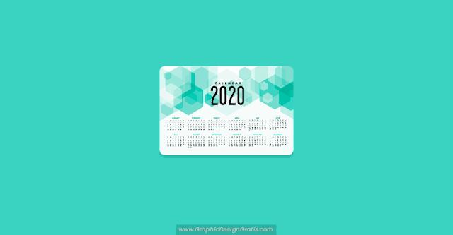 Plantilla de calendario editable 2020 gratuito