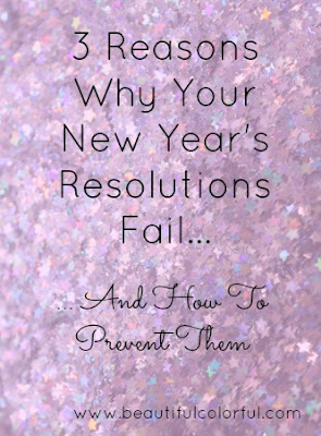 reasons why new year's resolutions fail - glitter star confetti