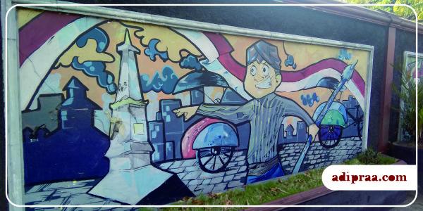Mural Tugu Jogja di Tembok UNY - Gejayan | adipraa.com