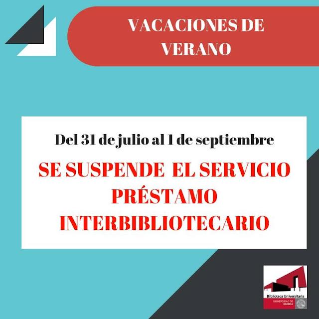 Información desde el Servicio de Préstamo Interbibliotecario