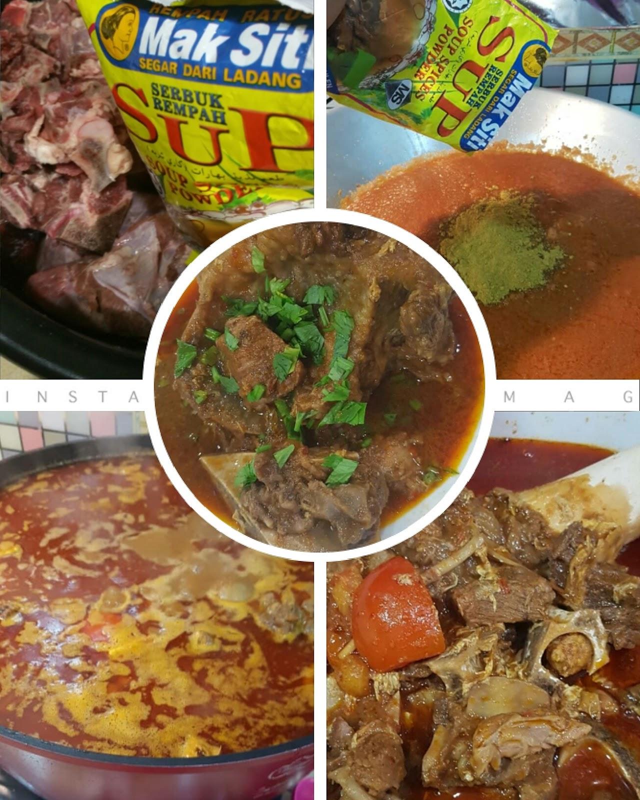 Rempah sup Mak Siti, resipi sup tulang Merah Mak Siti, Rempah ratus Mak siti