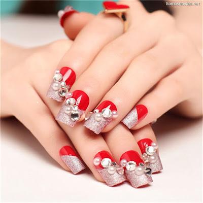 Uñas de novia rojas