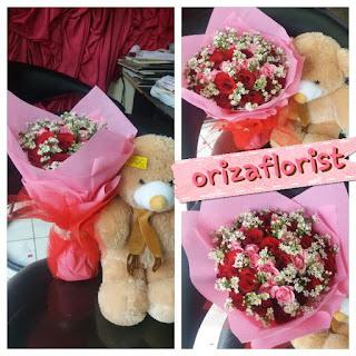 toko hand bouquet di surabaya, hand bouquet murah surabaya