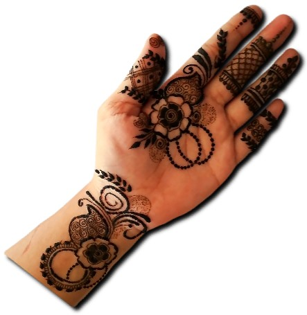 Beautiful Mehndi Design for front Hand