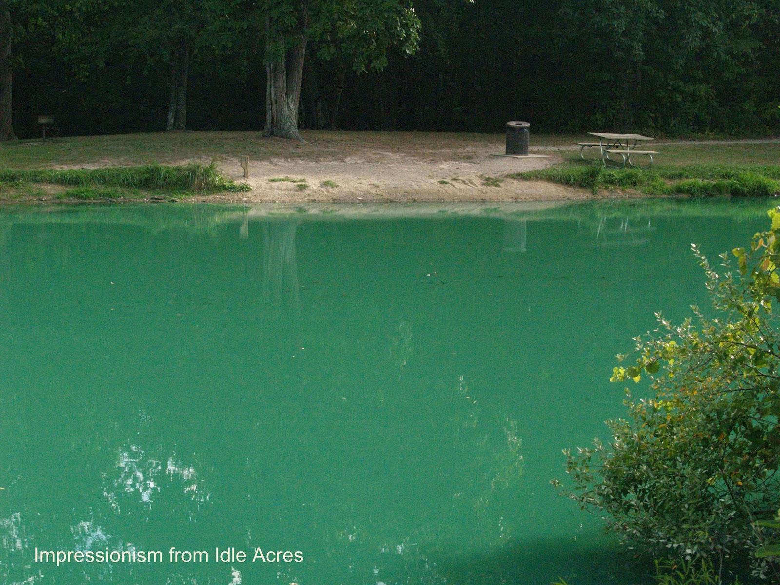 Original Photo Fishing Pond Copyright James E Martin
