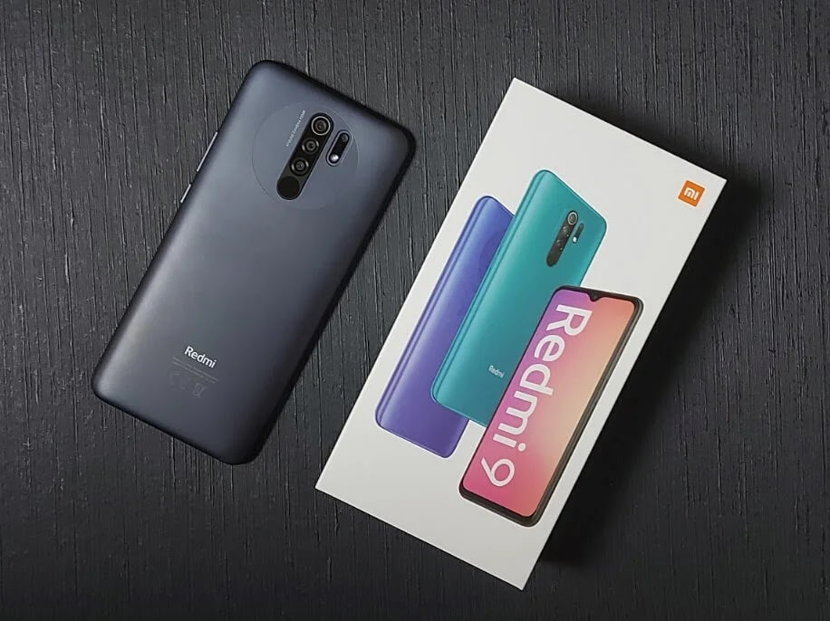 Xiaomi Redmi 9 Carbon Grey Textured Back Design