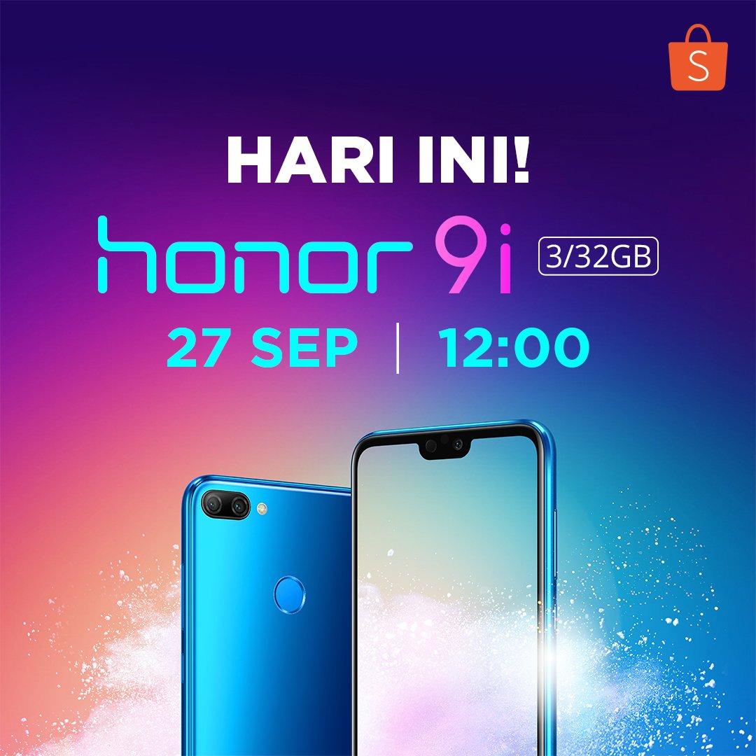 Shopee - Promo Flash Sale Honor 9i Jam 12 Siang Ini ( 27 Sep 2018)