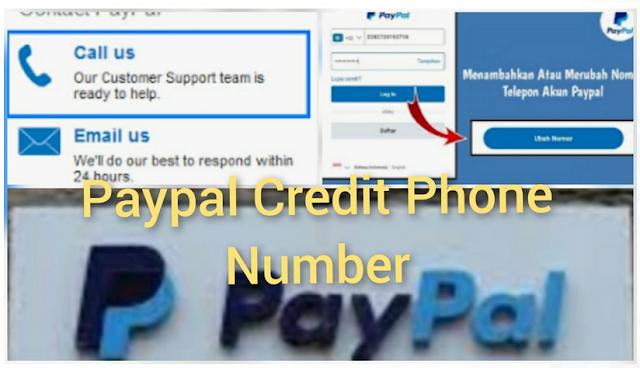 Paypal credit phone number