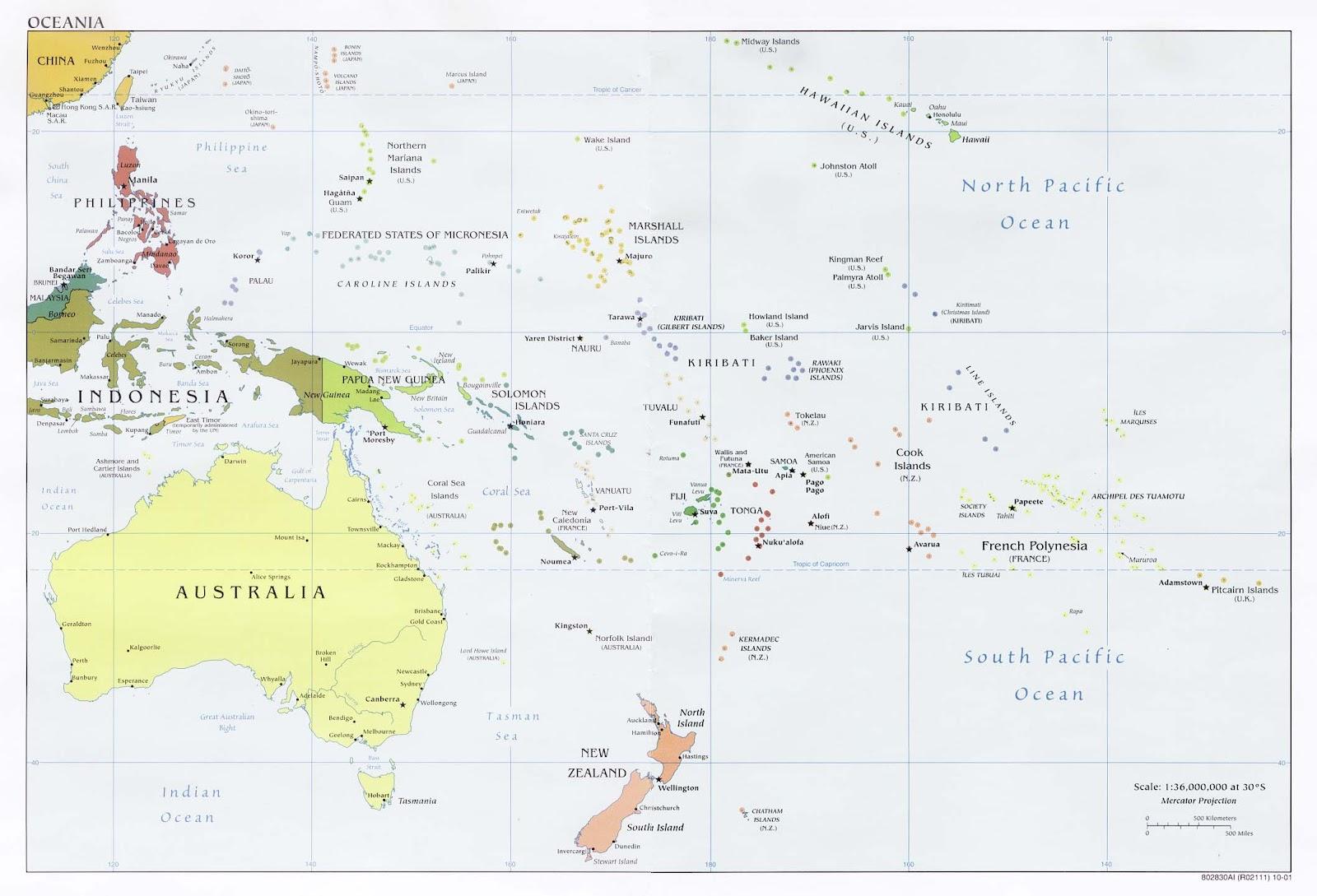 Oceania, Aspectos Geográficos e Sociais da Oceania