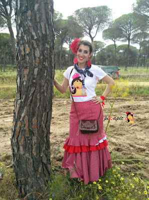 Camiseta flamenca Martina. Pikapic