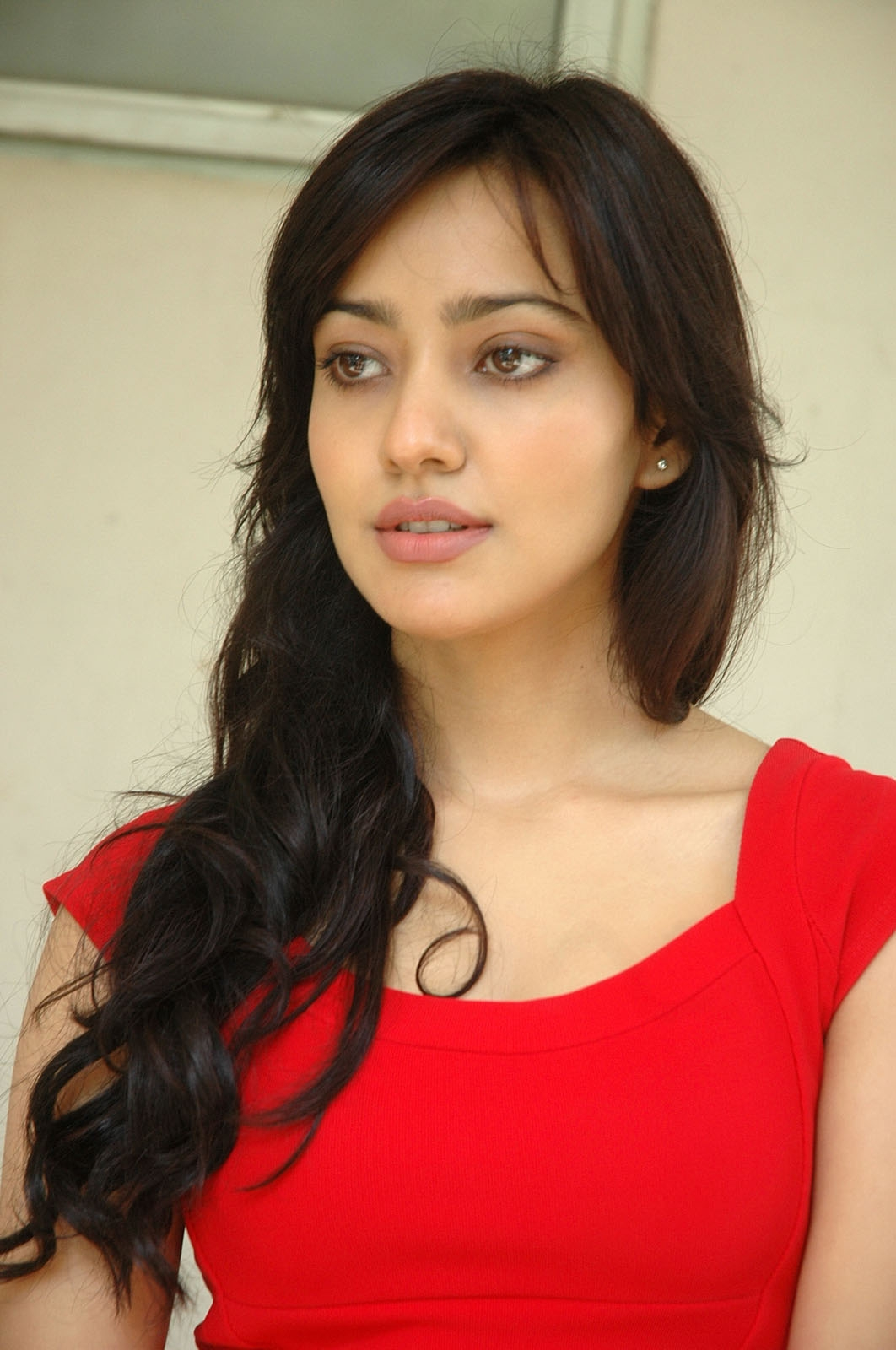High Quality Bollywood Celebrity Pictures Beautiful Neha Sharma Looks Hot In Red Dress-1484