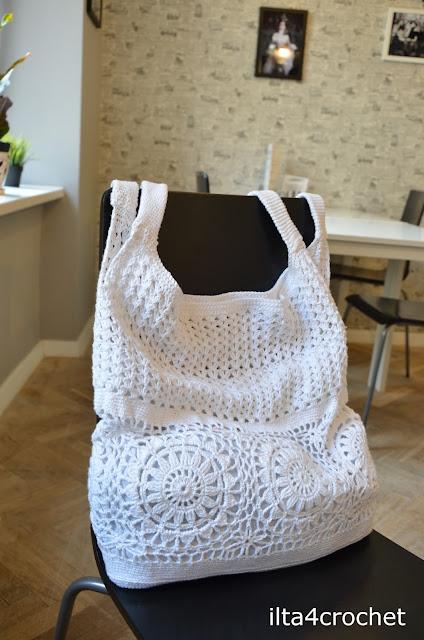 szydełko torebka, bawełna, scheamt, crochet, bag, pattern