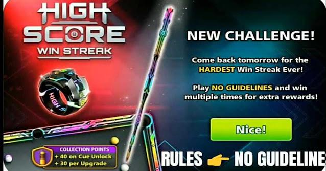 High Score Win Streak8 ball pool