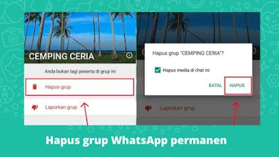 Cara Menghapus Grup WhatsApp Secara Permanen