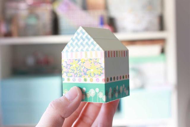 DIY: Decora casitas de madera con washi tape