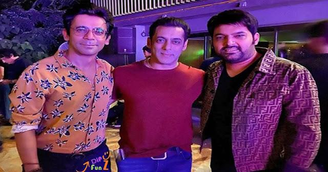 Sunil Grover Salman Khan and Kapil Sharma