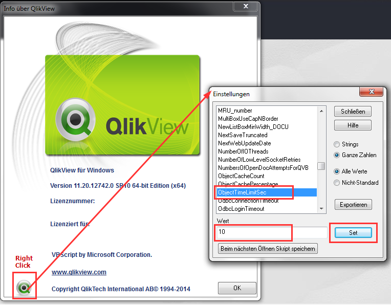 QlikView Developer Easteregg ObjectTimeLimitSec