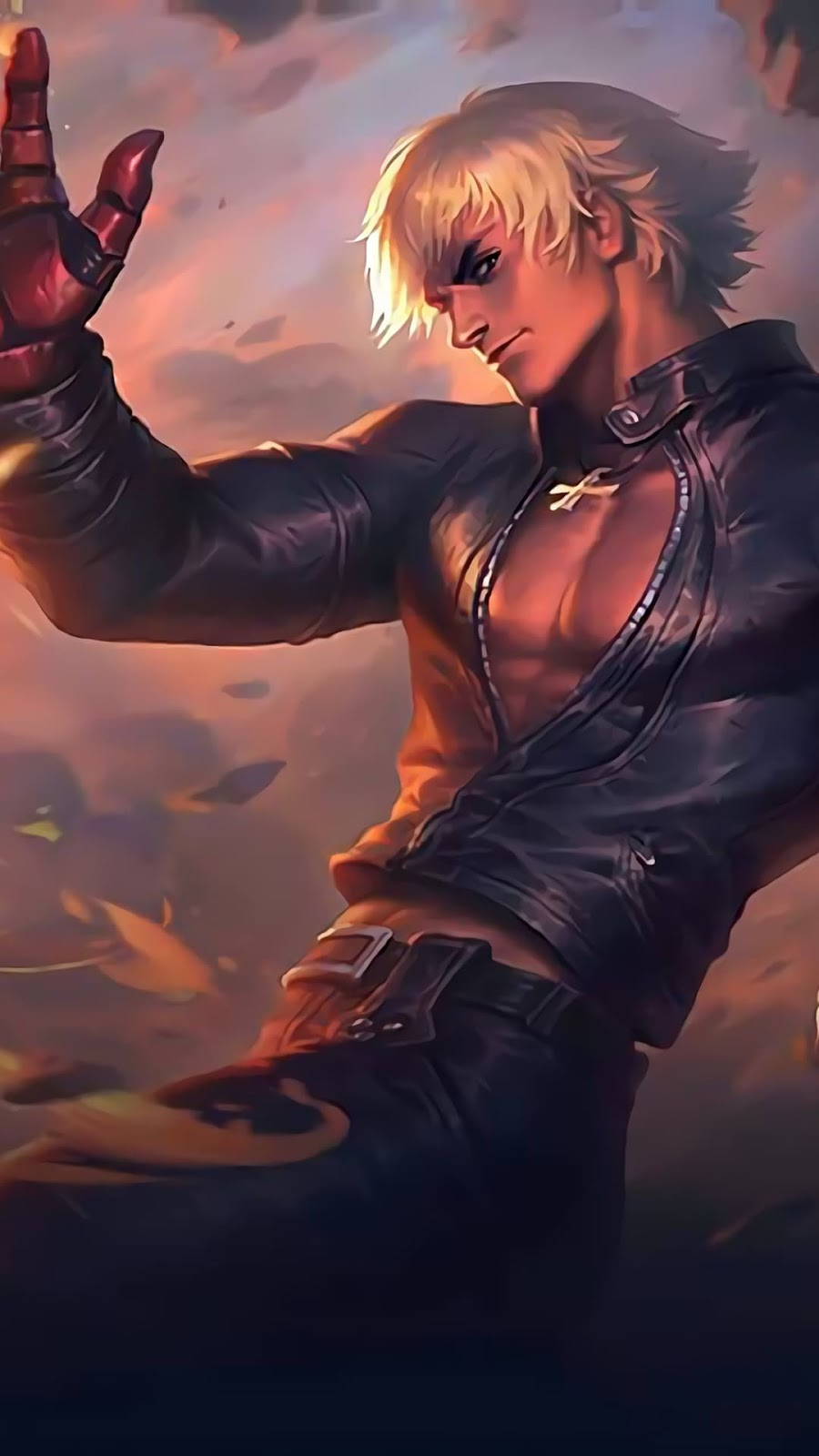 Wallpaper Gusion K' KOF Skin Mobile Legends HD for Android and iOS