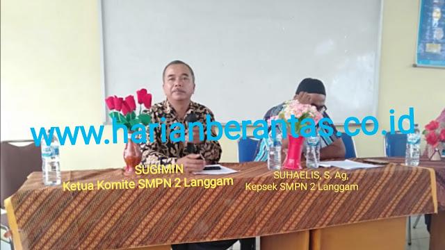 Pungli..! Kepsek SMP Negeri 2 Langgam Diduga Komite Jadi Topeng