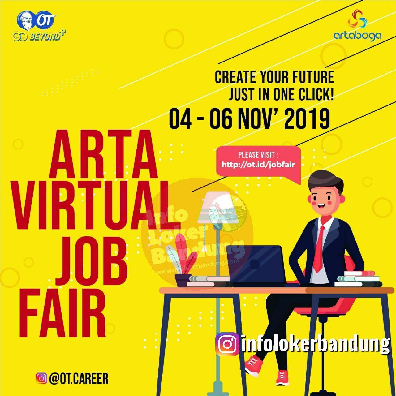 Arta Virtual Jobfair by PT.Arta Boga Cemerlang (Orang Tua Grup) 04 - 06 November 2019