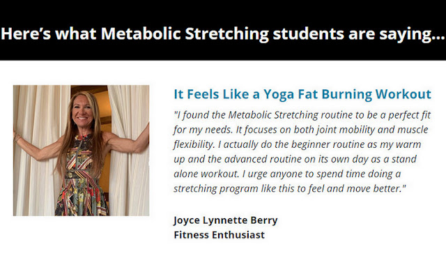 Metabolic Stretching reviews, The Metabolic Stretching Coaching Follow Along Videos DVD program