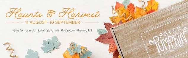 New Paper Pumpkin Haunts & Harvest Kit for September 2021 Click to learn more!