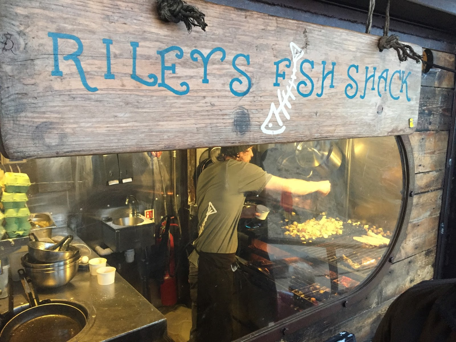 Weekend in Tynemouth, Newcastle, Rileys fish shack