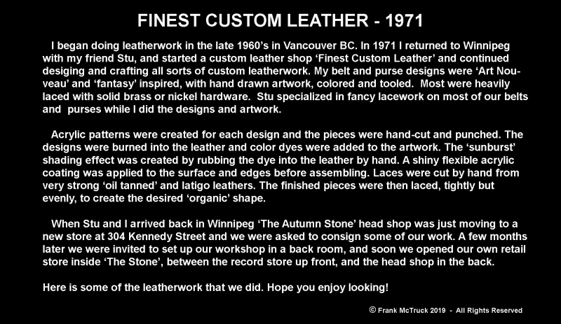 Frank McTruck's Finest Custom Leather - 1971