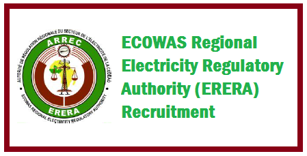 ERERA Electricity Regulatory Job Vacancies and Recruitment