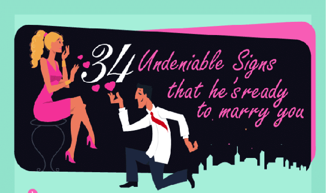34 Undeniable Signs That He's Ready to Marry You #infographic