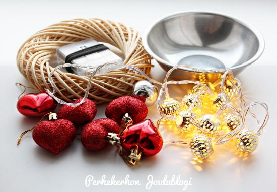 Kuva: Perhekerhon Joulublogi - Ideoita joulukoristeluun 1 - koristeet kulhossa