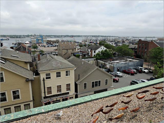 Terraza del Museo de las Ballenas de New Bedford