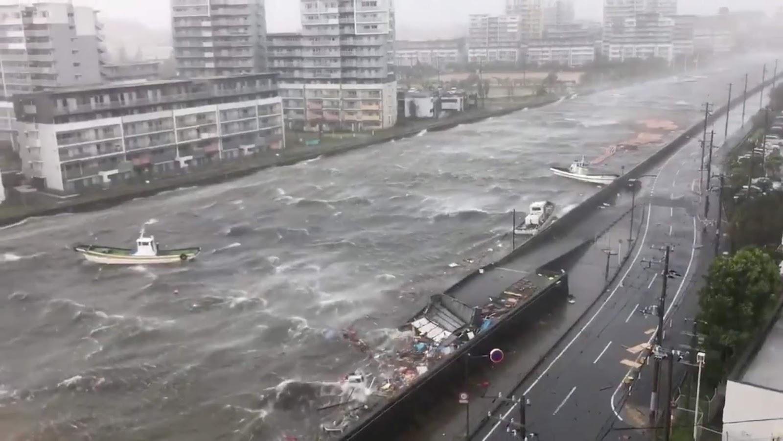مصرع شخص وإصابة آخرين في اليابان جراء عاصفة مدارية