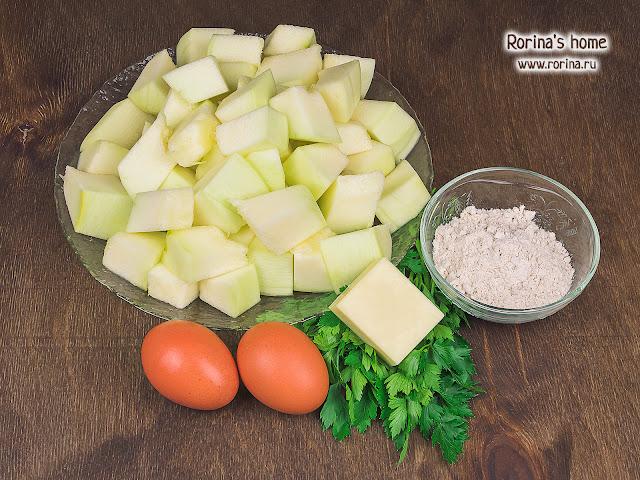 Что нужно на оладьи, кроме кабачков? Фото ингредиентов