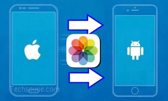 نقل الصور من iPhone إلى Android