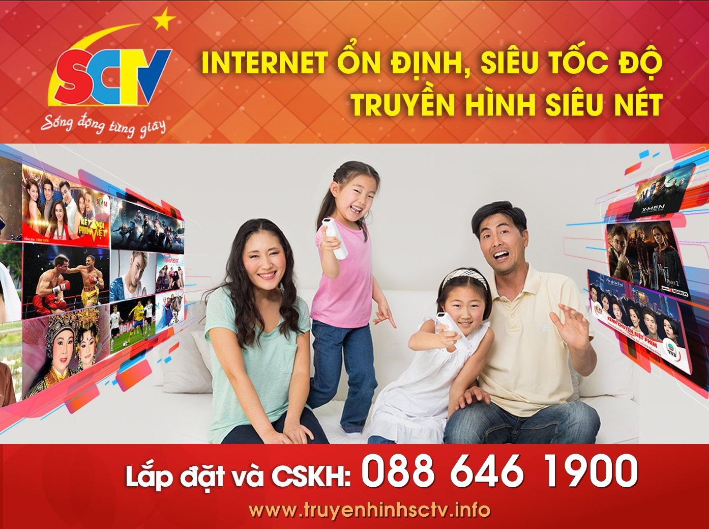 Giá cước Dịch vụ Internet SCTV + Truyền hình cáp