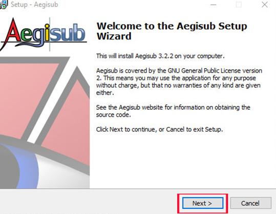 Hướng dẫn cài đặt phần mềm Aegisub a