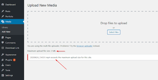 Increase upload file size by wordpress filter